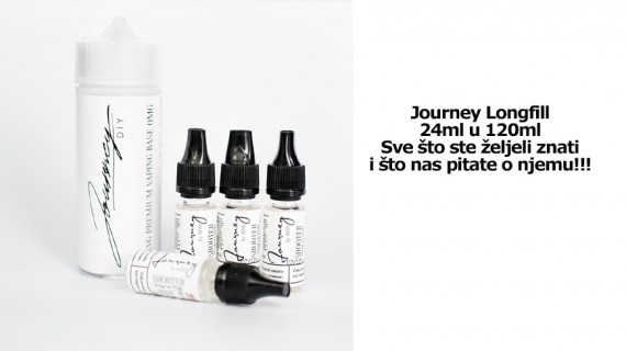 Journey Long-fill 24 ml in 120 ml in Gorilla bottle!