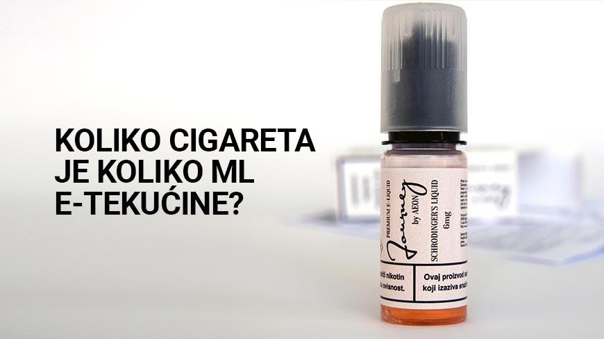 Koliko cigareta je 10ml e-tekućine?